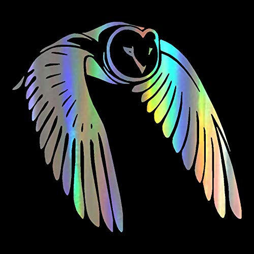ZQZL Etiqueta engomada del Coche del pájaro del búho Volador Que Labra la Etiqueta engomada Linda del Cuerpo de la Etiqueta engomada del Animal 15 * 13.8CM