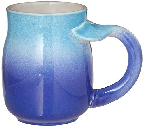 DEI Ceramic Whale Tail Mug, Blue, 16 oz.