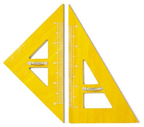 ドラパス 教授用品 木製三角定規 (2ヶ1組) 11301