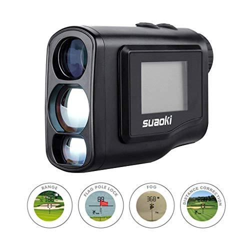 SUAOKI Digital Laser Rangefinder Scope (Range : 4.4 Yard- 656 yard/600M) with Golf Distance Correction, Fog Mode and LCD Screen Display