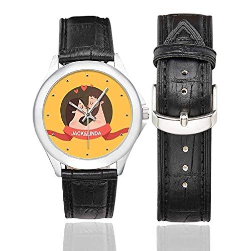 Reloj personalizado con estampado divertido para hombres, reloj personalizado con nombre de novio marido para cumpleaños, Navidad, aniversario de boda, Type-03, Diameter (watch face): 1.57 inch,