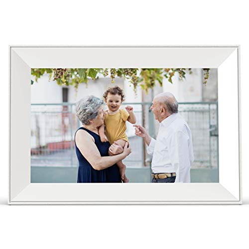 Henscoqi 10.1 inch WiFi Digital Photo Frame with IPS HD Display 1280x800 16GB Storage Smart Digital Picture Frame Share Picture/&Video on Widescreen Touch Screen Digital Photo Frame as Gifts