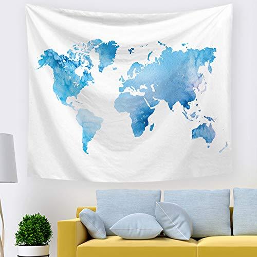 mmzki Wandtuch Kunst Tapisserie Export hängende Tuch Schlafzimmer Dekoration nordische Weltkarte 211378 230 * 150cm