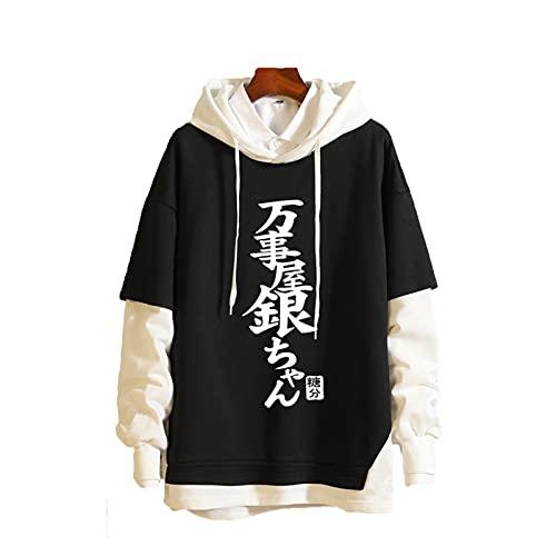 OMGD Ataque en Titán Adolescente Falso con Capucha de Dos Piezas, Casual Cómodo Camiseta Blanco Blanco Blanco Blanco Intersecting Pullover (S-3XL) 18-XL