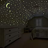 Glow in The Dark Stars for Ceiling Wall Stickers for Bedroom Living Room, Wall Decals for Kids Boys and Girls (201PCS)
