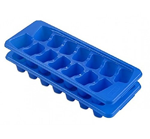 Sterilite 72620024 Blue Stacking/Nesting Ice Cube Trays 2 Count