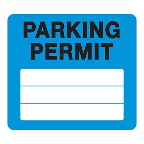 Parking Permit Pass Stock Static Cling Windshield Sticker Non-Adhesive for Employees, Tenants, Students, Businesses, Office, Apartments, by Milcoast, 10 Pack (Blue)