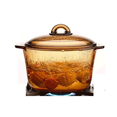 Pot À Soupe En Verre Transparent Pot Haute Température Au Feu De Ménage À La Vapeur Verre Ambre Pot Haute Borosilicate