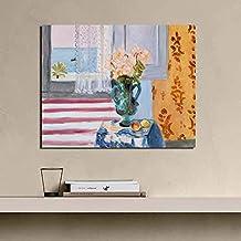 KWzEQ Artista Famoso Cartel de Arte Retro Lienzo impresión Sala de Estar decoración del hogar Arte de Pared Moderno,Pintura sin Marco,40x50cm