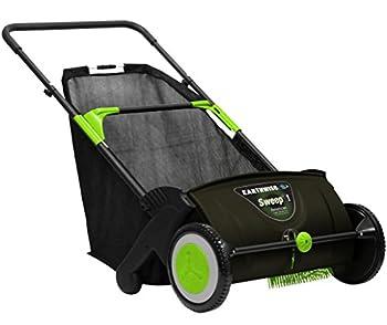 Earthwise LSW70021 21-Inch Leaf & Grass Push Lawn Sweeper Width Black