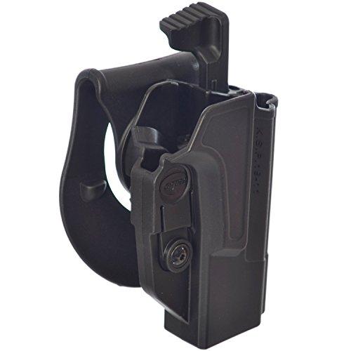 Orpaz Defense Level2 Retention - Funda de seguridad para pulgar táctica, ajuste de tención, rotación de 360 grados, para todos los 1911 con/sin riel Picatinny, Colt Sig Kimber S&W Taurus Ruger y m