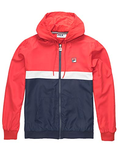 Fila Ambrose Hooded Wind Jacket Chinese Red/Peach/White LG
