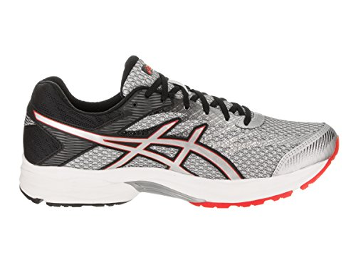 Asics Mens Gel-Flux 4 Road Running Shoe,Glacier Grey/Silver/Vermilion,US 12.5 4
