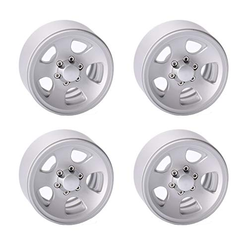 "4PCS Aluminum Alloy 1.9"" Wheel Rim Hubs for 1/10 RC Crawler Axial SCX10 II Tamiya CC01 RC4WD D90 D110 Traxxas TRX4"