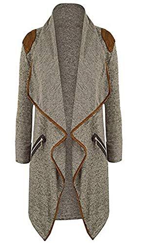 Oversized cardigan met onregelmatig zoom dames gebreid casual shirt met lange mouwen outwear winterjas mode coat casual jas gewatteerde jas jas pak geweldige mantel