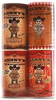 Kenny's All Purpose Seasonings 8 ounce Gift Pack Original/Cajun/Texas Burn/Honey BBQ(pack of 4)