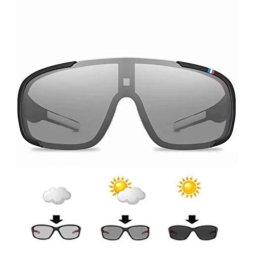 Sportbrille für Herren und Damen Selbsttönende. Triathlon, Radfahren und MTB für Große Köpfe