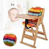 Trona de madera evolutiva para niño, color madera Natural, de los 6 meses hasta los 5 años, hasta los 30 kg(Colore del legno)