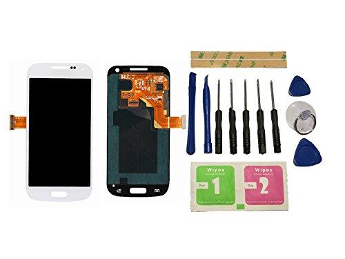 Flügel para Samsung Galaxy S4 Mini i9195 i9190 Pantalla LCD pantalla Blanco Táctil digitalizador Asamblea Pantalla ( sin marco ) de Recambio & Herramientas