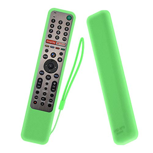 MOSHOU Ajustado Adapta Mando Funda de Silicona Compatible con Sony KD/XG95/AG9 Series TV Remote RMF-TX600E RMF-TX500E RMF-TX500U Anti-caída Protectora a Prueba de Polvo de Caucho (Luminoso Verde)