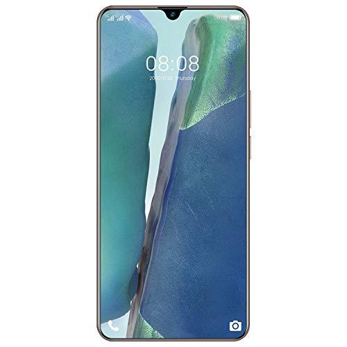 Lightofhope TeléFono Inteligente Note80, Desbloqueo de Huellas Dactilares, Pantalla de Alta DefinicióN de 7,1 Pulgadas, TeléFono PortáTil Liviano (Enchufe de la UE, Dorado)