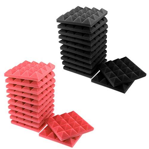 Büro oder 12er Set Premium Pyramidenschaumstoff Schalldämmplatten für Studio