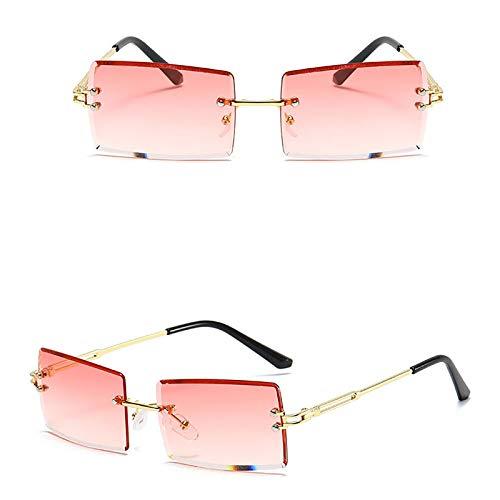 APCHY Gafas De Sol Rectangulares Vintage para Mujer Y Hombre Gafas Cuadradas Retro De Moda Gafas De Lentes Tintadas con Montura Sin Montura Protección UV400,5