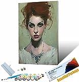 Vfvozr Pintura Digital para Adultos Un Lienzo Pintura de Figuras Pintado digitalmente con un Pincel y una Imagen de Pintura con una Imagen en el Lienzo 40x50cm Sin Marco