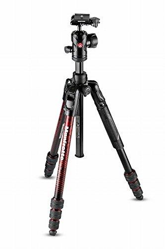 Manfrotto Befree Advanced Alu Reisestativ Twist (Drehverschluss) mit Kugelkopf, inkl.Tasche (für Canon, Nikon, Sony, DSLR, CSC, Spiegellose Kamera, rot, Traglast:8kg, Packmaß:40cm, Gewicht:1,49kg)