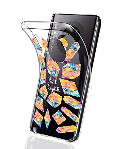 Oihxse Mode Motif de Diamant Case Compatible pour Xiaomi Mi CC9e/Xiaomi Mi A3 Coque Silicone Ultra Mince Transparent Souple Bumper Crystal Clair Anti-Rayures Antichoc Protection Cover,Diamant 10