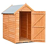 Shire Overlap 6x4 SD Value Shed, Brown