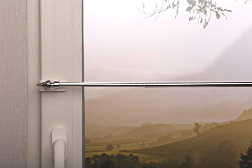 Beyond Drape gordijnroede vitragestang kegel uittrekbaar klemdrager tot 20 mm voor het ophangen van gordijnen zonder boren, ijzer, chroom, 40-60 cm
