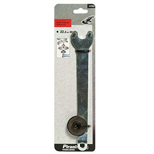 Black+Decker X37060-XJ - Llave y tuerca para esmeriladoras angulares grandes Black+Decker, DeWalt y Elu.
