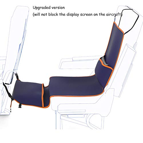 QMJHL Aircraft foot pedal hammock, Adjustable height foot pedal, Easy and comfortable foot hammock, Seat anti-dirty pad, portable travel pedal.