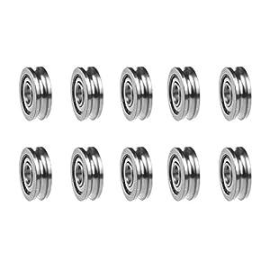 HUABAN 10pcs 3D Printer MK8 U604ZZ 604UU 4x13x4mm U-Shaped Bearing Extruder Round Wheel Gear Walking Guide Rail Bearings Fitting Pulley