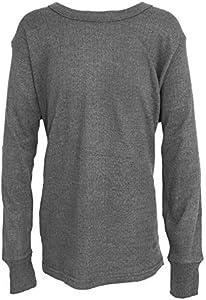Floso - Camiseta básica/Interior térmica de Manga Larga para Niños/Niñas Unisex (3-5 años, Medida Pecho 46-51cm) (Carbón)