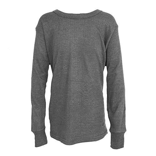 Floso - Camiseta básica/Interior térmica de Manga Larga para Niños/Niñas Unisex (9-11 años, Medida Pecho 71-76) (Carbón)