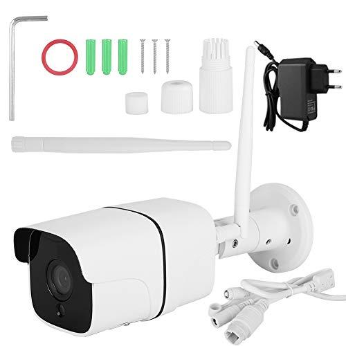 Beveiligingscamera Voor Buiten, Met Automatische Led-Verlichting Voor Nachtzicht, Gezinsmonitor Met Weerbestendige Ip66, 24-Uurs Bewaking, Bewegingsdetectie En Noodwaarschuwing, Bewakingscamera(White)