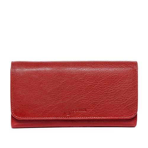 BACCINI portemonnee echt leer GIANNINA portemonnee portemonnee lederen portemonnee dames rood