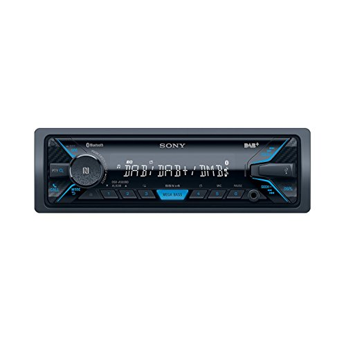 Sony DSXA500BD Sintolettore Digitale con Antenna DAB, Bluetooth, NFC, USB/AUS, Apple iPod/iPhone Control, Microfono Esterno, 4 x 55 W, Nero