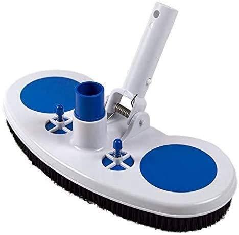 CNOP Kit de accesorios de 33 cm para piscina con cabeza de succión y cepillo de limpieza para aspiradora, cabezal de succión para piscina