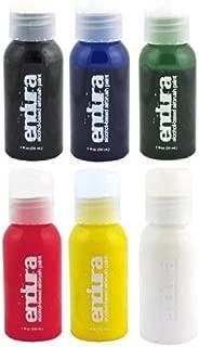 Endura Airbrush Body Art Paint Set in 6 Primary Colors (1 oz Bottle Set)