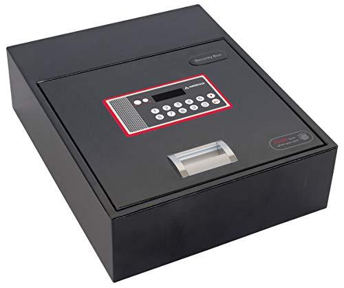 Arregui 20000-S7 - Caja fuerte motorizada para su instalación oculta en zócalos de armario, 10L, 310x110x 380mm, Negro