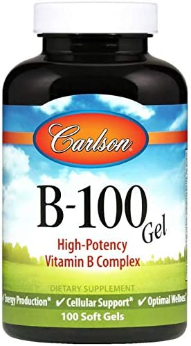 Carlson - B-100 Gels High-Potency B OFFicial Energy Complex Vitamin Fort Worth Mall Pro