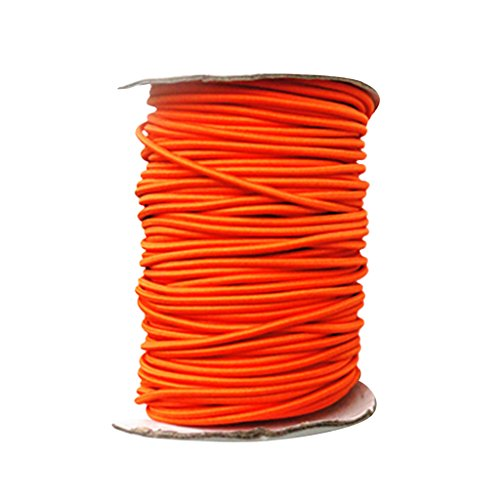 HomeDecTime Elástico Elástico de Tenacidad de 4 Mm X 5 M/Cordón de Choque para Atar Cuerda Marina Naranja