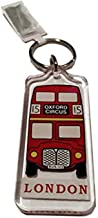 Classic Red Routemaster Bus Key Ring / Keyring / Key Chain Souvenir Quality Red Acrylic London Icon Roten Bus Schlusselring / Autobus rojo llavero / Bus Rouge Porte-clés / Bus Rosso Portachiavi Iconic Decal Custom Collection. S01