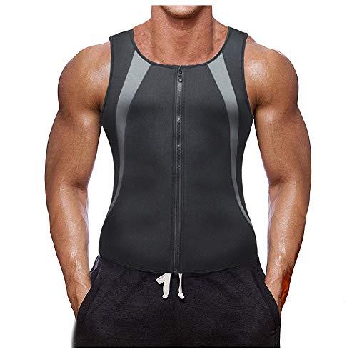 Herren Tank Top Fitness Shape Shirt Reißverschluss Tanktop Tankshirt Ärmellos Bodybuilding Figur Training Achselshirts Weste Funktion Oberhemd Muskelshirt M