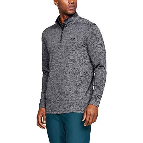 Under Armour Playoff 2.0 1/4 Zip, Camisa Polo para Hombre, Camiseta Polo Hombre, Negro (Black/Black 001), S