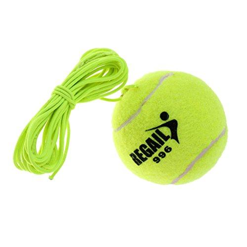 Baoblaze Tennisball mit elastischer Schnur Trainingszubehör, grün