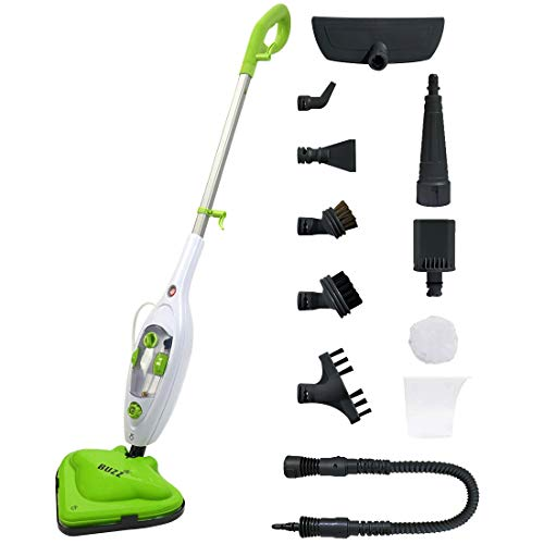 GPX BUZZ 1500W HOT STEAM MOP 10 in 1 FLOOR CLEANER CARPET WASHER HAND HELD...